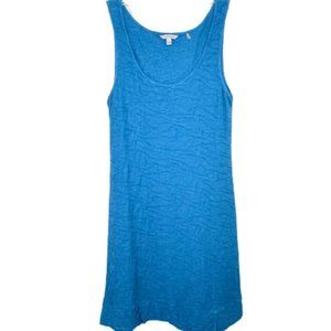Toad & Co Aqua Blue Samba Wave Tank Dress - L